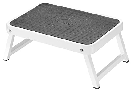 Remarkable Hailo 4440 701 Onestep Folding Step Stool With Rubber Anti Slip Platform For Extra Stability White Machost Co Dining Chair Design Ideas Machostcouk