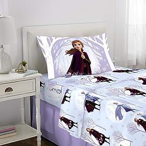 Franco Kids Bedding Super Soft Flannel Sheet Set, 3 Piece Twin Size, Disney Frozen 2