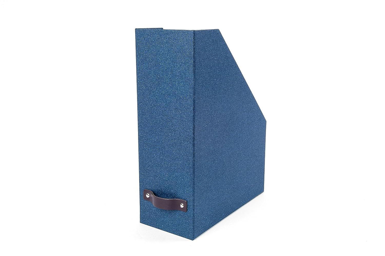 Bigso Estelle Canvas Paper Laminate Magazine File Box, Dark Brown 5911C4843