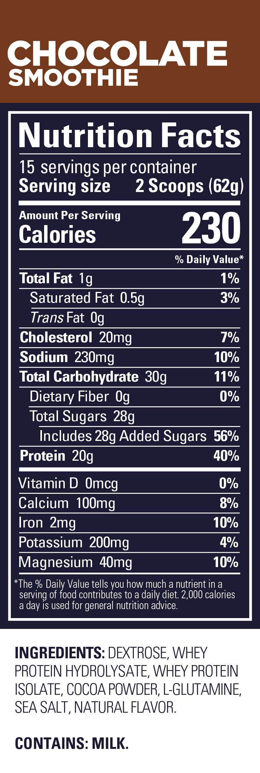 Gu Energy Roctane Ultra Endurance Protein Recovery Drink Mix, 15-Serving Pouch, Chocolate Smoothie by GU Energy Labs (Image #4)