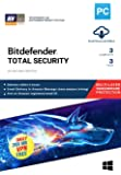 BitDefender Total Security Latest Version with Ransomware Protection (Windows) - 3 User, 3 Years (Email Delivery in 2 hours - No CD)