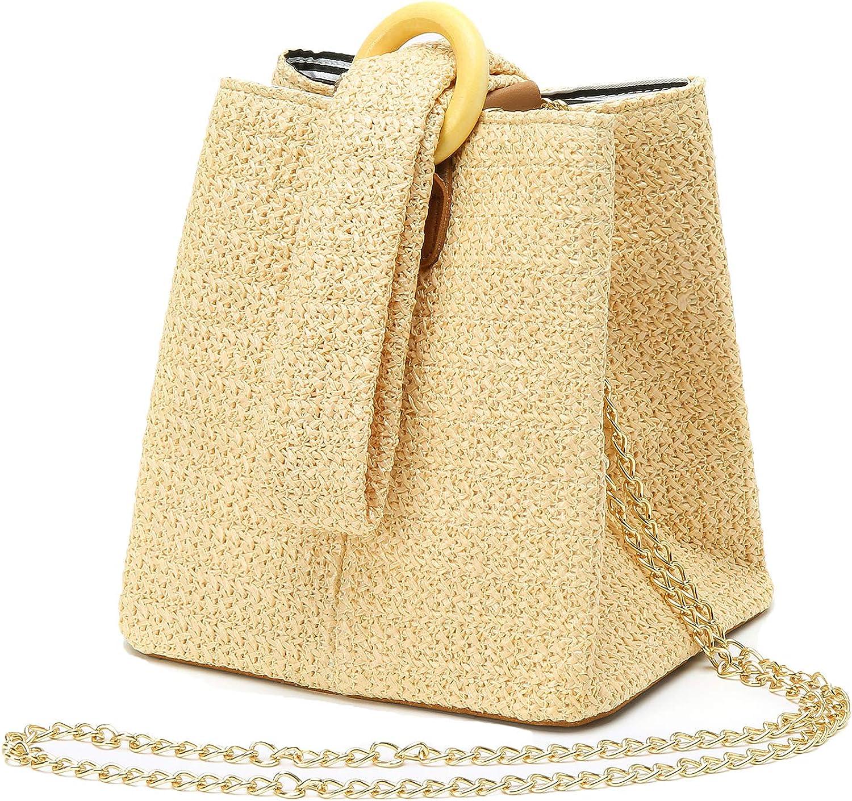 Straw Crochet Clutch Bag Fashion Clutch Bags Bucket Wrist Evening Purse Bag Summer
