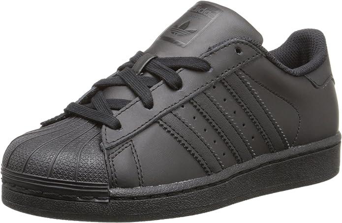 Adidas Superstar Cuir Chaussure de Basket, Noir, 30 EU