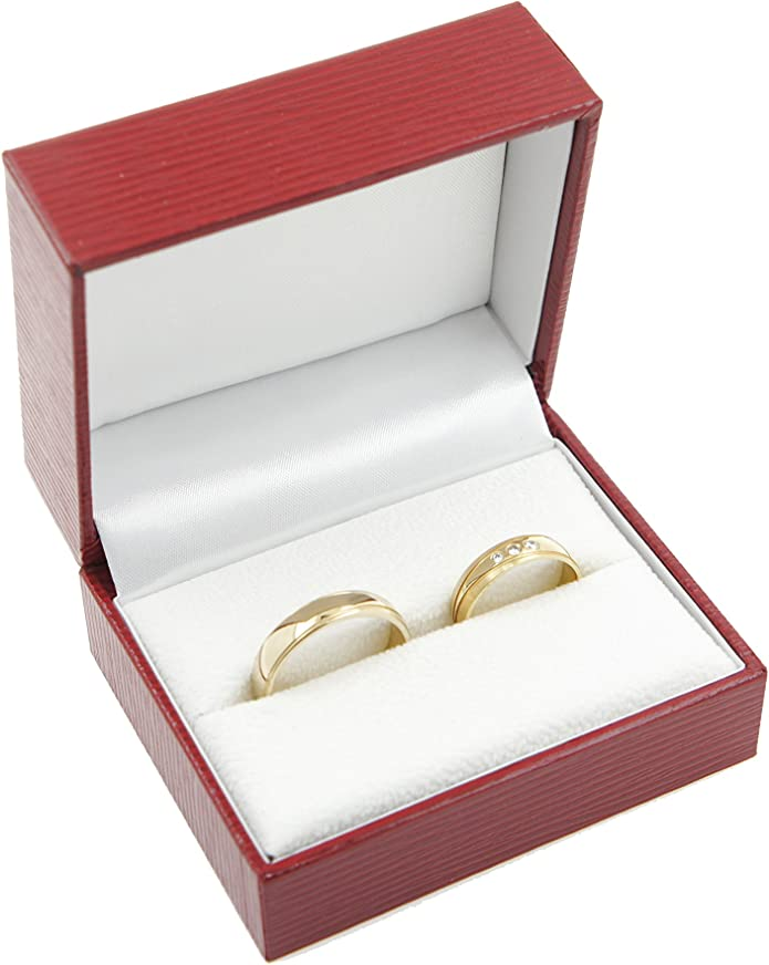 Estuche para 2 anillos de boda de alta calidad: para pedida de ...