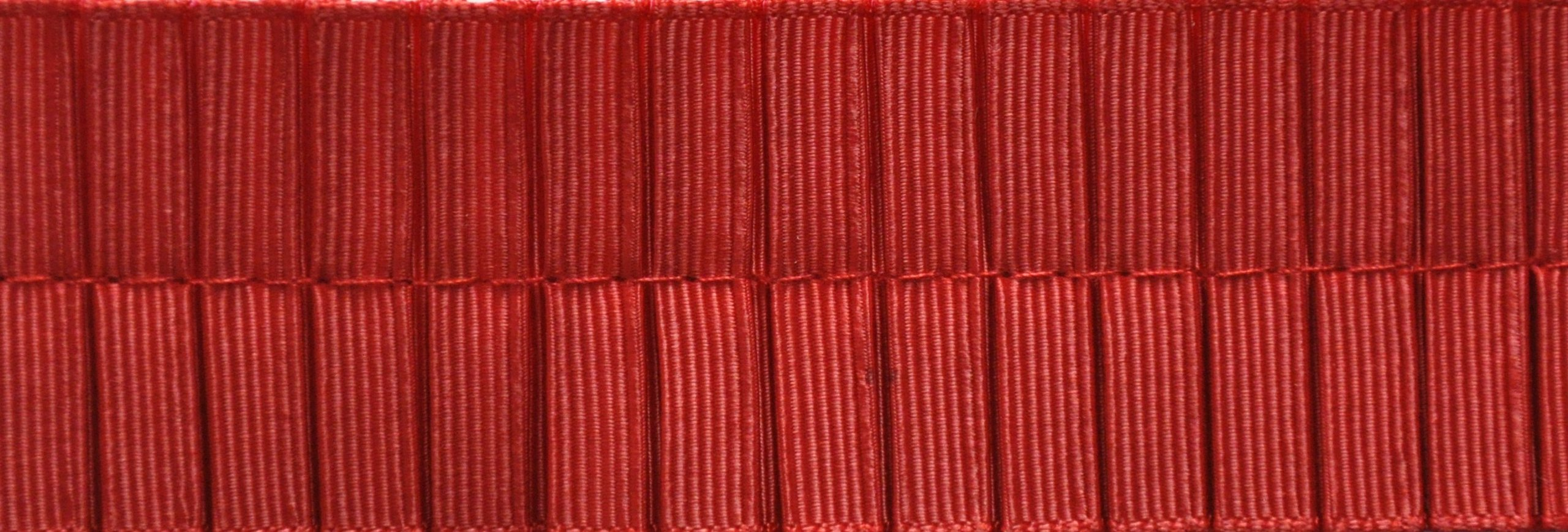PLEATED TRIM Boxpleated Grosgrain Ribbon Roll, Red, 25-Yard by PLEATED TRIM