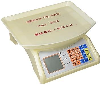 Cablematic - Balanza mostrador de sobremesa con Bandeja de 30x23cm báscula 30Kg: Amazon.es: Electrónica