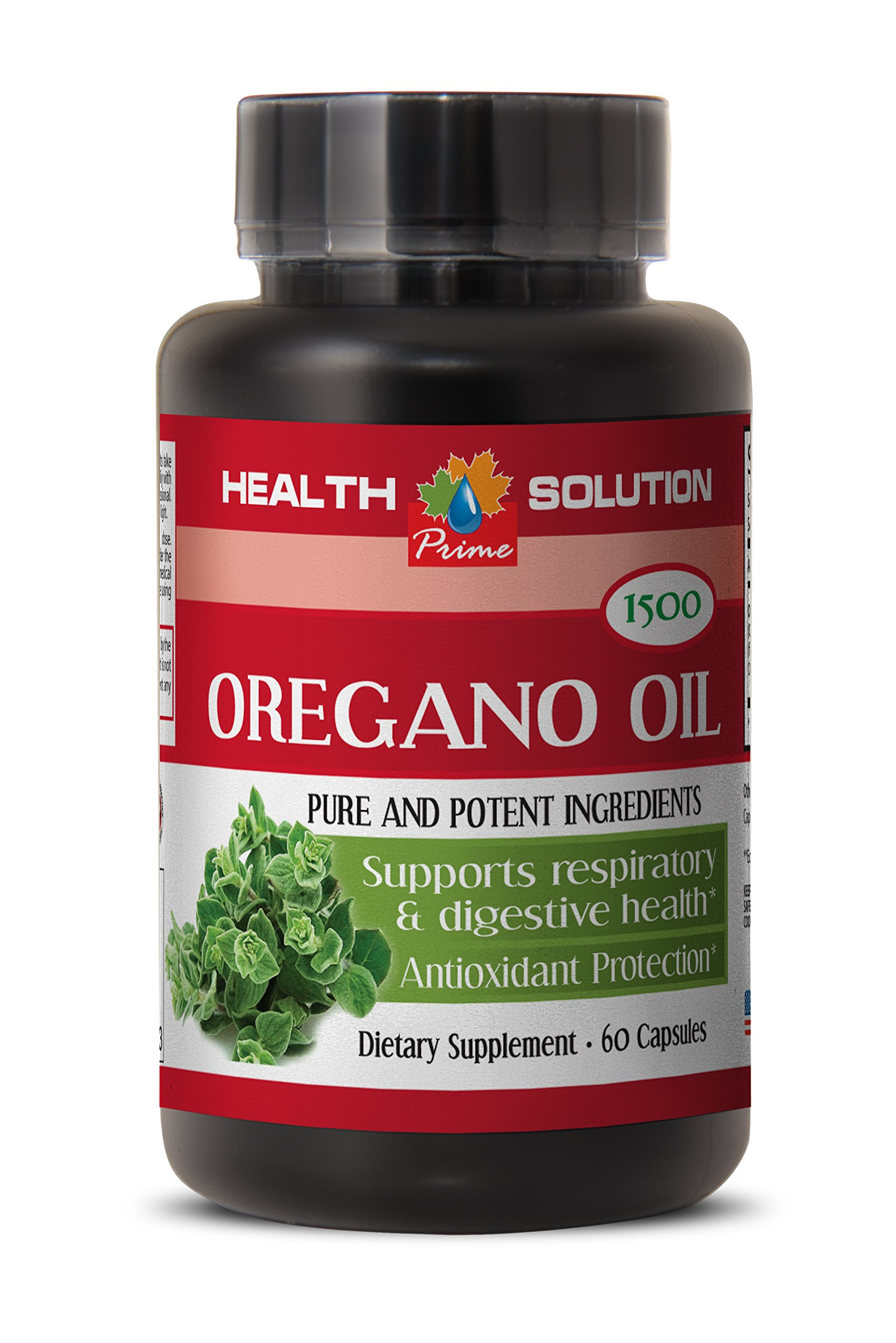Immune system booster for men - OREGANO OIL EXTRACT (PURE AND POTENT INGREDIENTS) - Wild mediterranean oregano oil - 1 Bottle 60 Capsules by Health Solution Prime