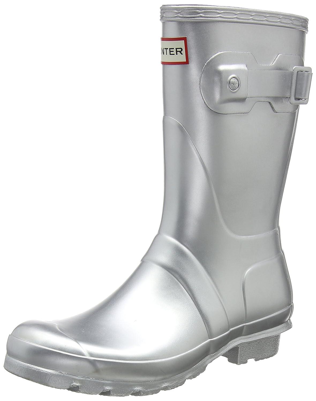 Hunter Women's Original Short Rain Boot B01N9O431O 8 B(M) US|Silver