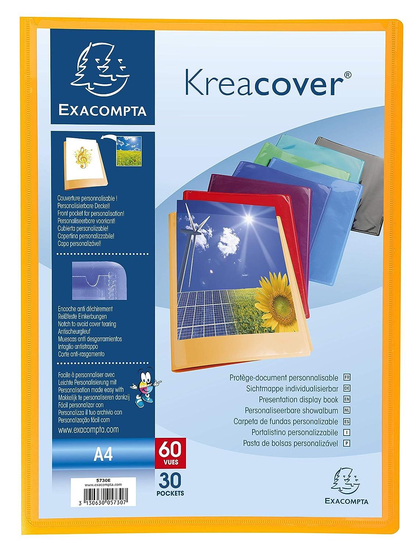 Porte Vues Prolypropylene Semi Rigide Krea Cover Opaque 80 Vues A4