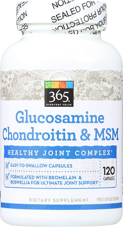 365 Everyday Value, Glucosamine Chondroitin & MSM, 120 ct