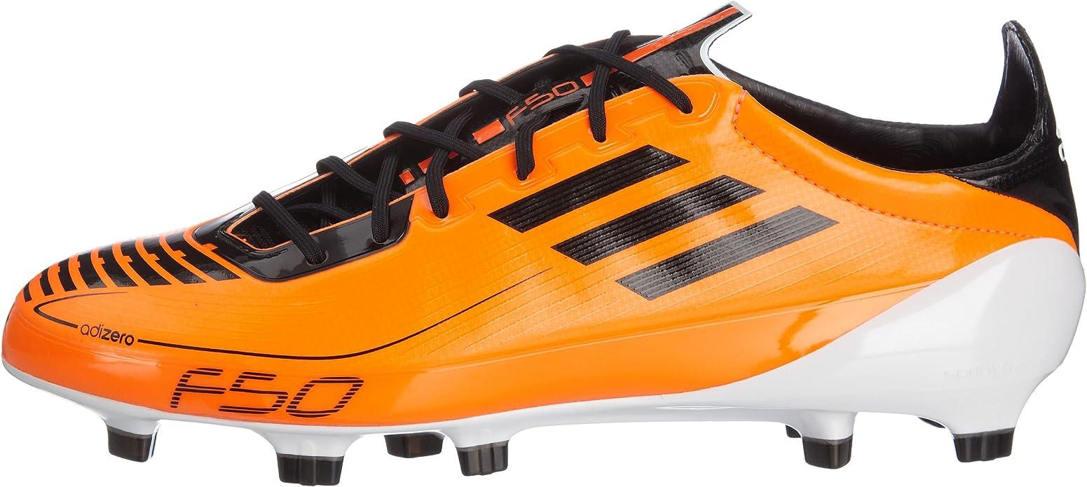 adidas performance herren f50 adizero fg fußballschuhe orange noir blanc