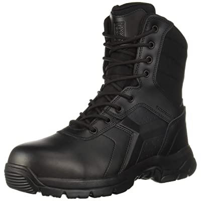 Battle OPS Men's 8-inch Waterproof Side Zip Tactical Boot Comp Safety Toe Military, Black, 11.5 Medium Wide US: Shoes