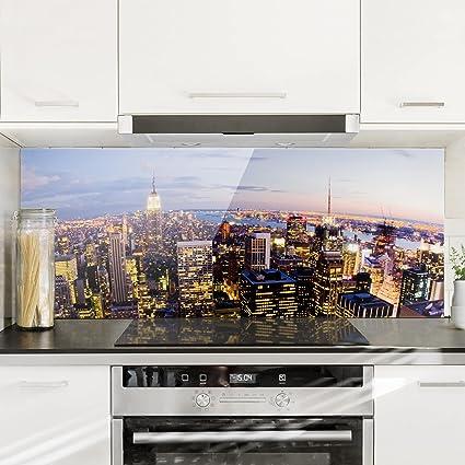 Bilderwelten Paraschizzi in vetro - New York Skyline At Night ...