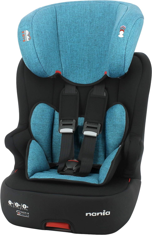 Silla de coche para Bebe isofix RACER grupo 1/2/3 (9-36kg) avec assise - con proteccion lateral -Nania