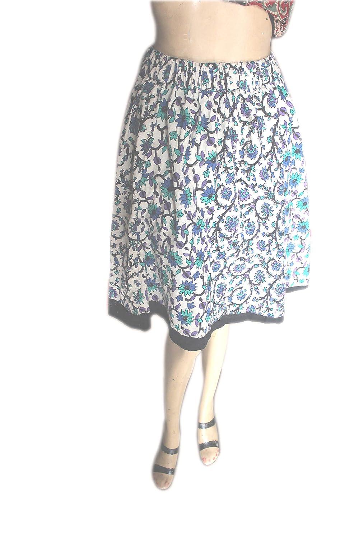 Lakkar Haveli - Mini Falda para Mujer, 100% algodón, Estilo Hippie ...
