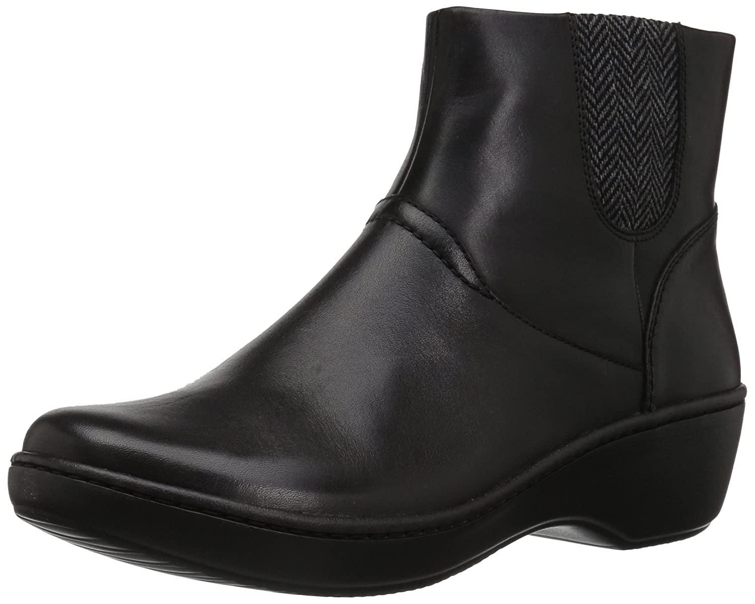 CLARKS Women's Delana Joleen Boot B01MR3198A 9 B(M) US|Black Leather