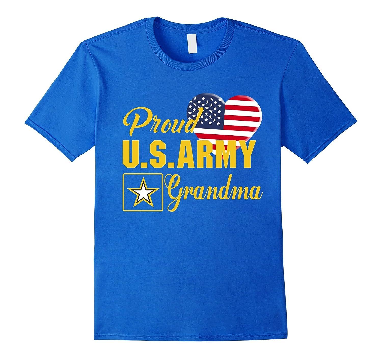 Proud US Army Grandma Patriotic Heart T Shirt-TD