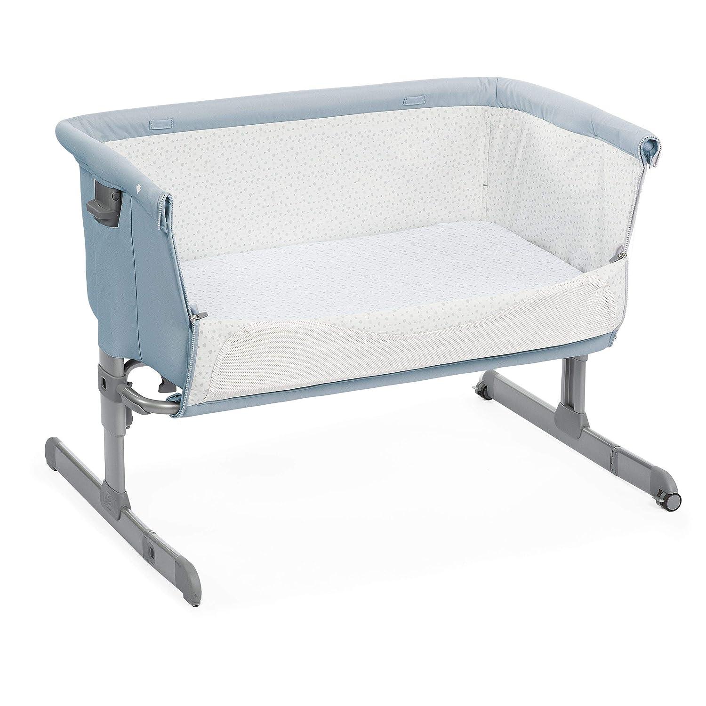 color azul Chicco Next2me Ocean Cuna de colecho con anclaje a cama y 6 alturas