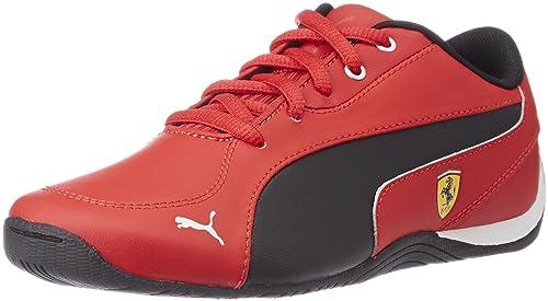 2e30184fc872 Puma Boy s Drift Cat 5 L SF NU Jr Rosso Corsa and Black Leather Sneakers -