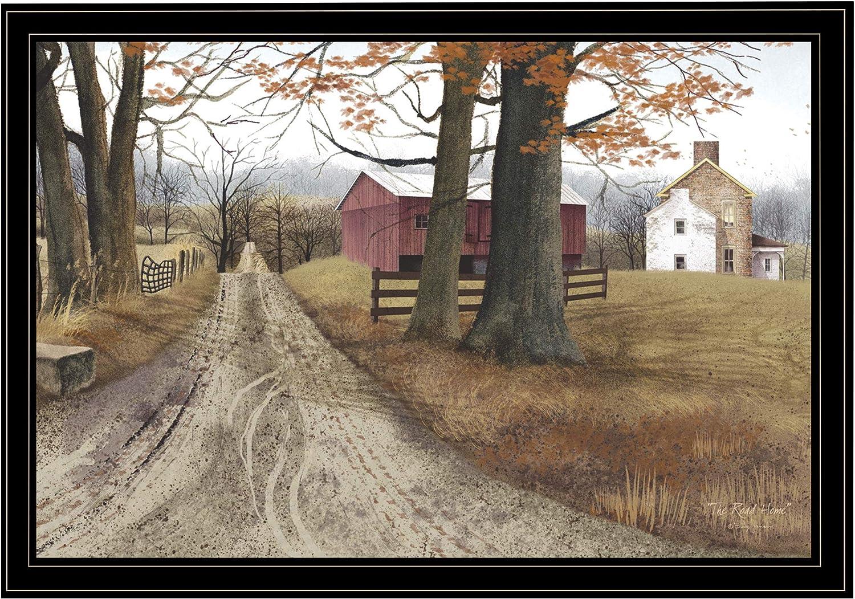 Trendy Decor4U The Road Home Printed Wall Art, 38 inch x 26 inch, Brown