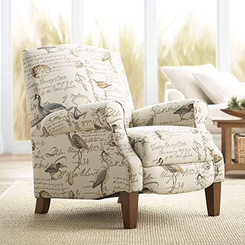 Birdsong Upholstered Fabric 3-Way Recliner Chair – Teal Island Designs