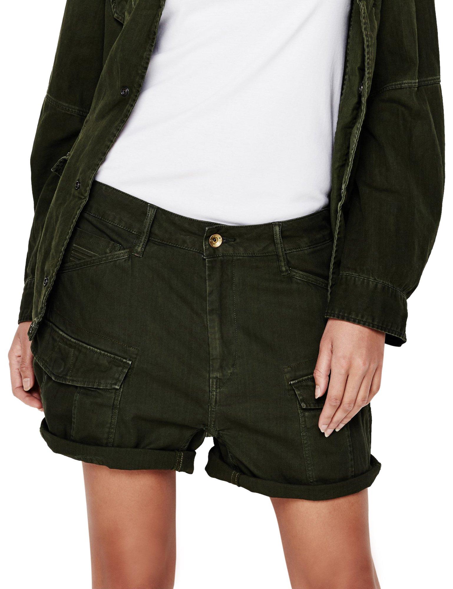 G-Star Women's Rovic Shorts Woman Green in Size 26 Green