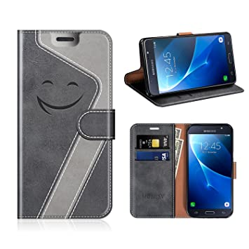 MOBESV Smiley Funda Cartera Samsung Galaxy J7 2016 Magnético, Funda Cuero Movil Samsung J7 2016 Carcasa Case con Billetera/Soporte para Samsung Galaxy ...