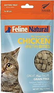 Feline Natural Grain-Free Freeze Dried Cat Treats, Chicken 1.76oz