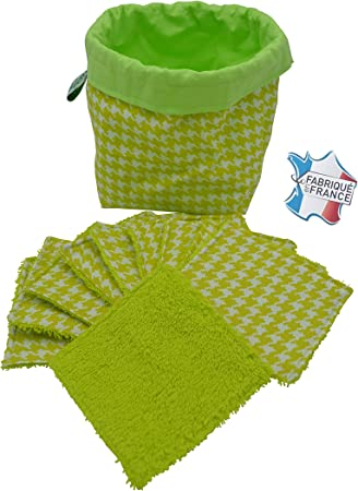 Toallitas limpiadoras lavables, hechas de algodón orgánico ...