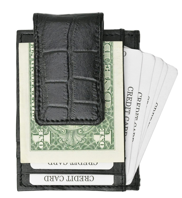 Crocodile Front Pocket Wallet Money Clip