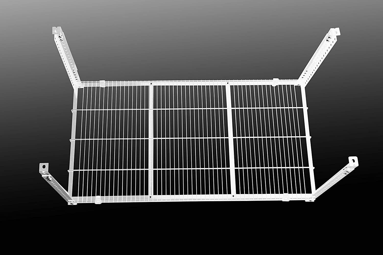 Make a useful storage space out of your unused space! garage metal shelf system Storewonder cellar rack ceiling Finally achieve the storage space of your dreams white