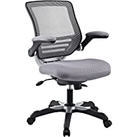 Modway Edge Office Chair with Gray Mesh Back and Mesh Fabric Seat