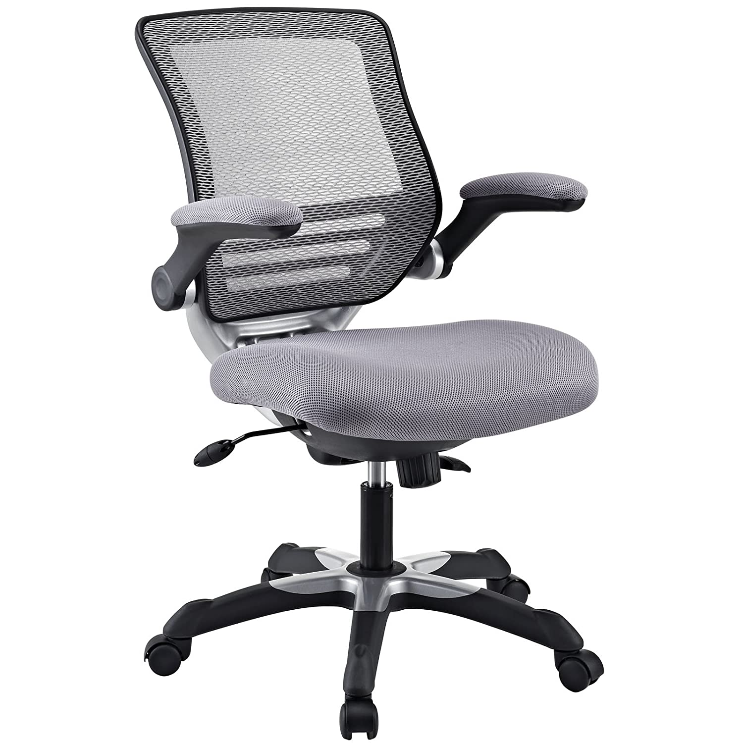 Amazoncom Modway Edge Mesh Back And Gray Mesh Seat Office Chair - Grey office chair