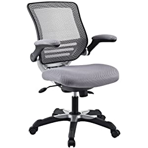 Modway Modway Edge Office Chair with Mesh Fabric Seat, Gray, Mesh