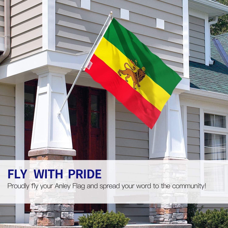 Anley Fly Breeze 3x5Pi Drapeau de lEthiopie avec Lion-Couleur Vive R/ésistant aux UV-T/ête en Toile//Double Couture-Drapeau Ethiopien avec Lion de Judah Polyester /œillet en Laiton 3x5Pi