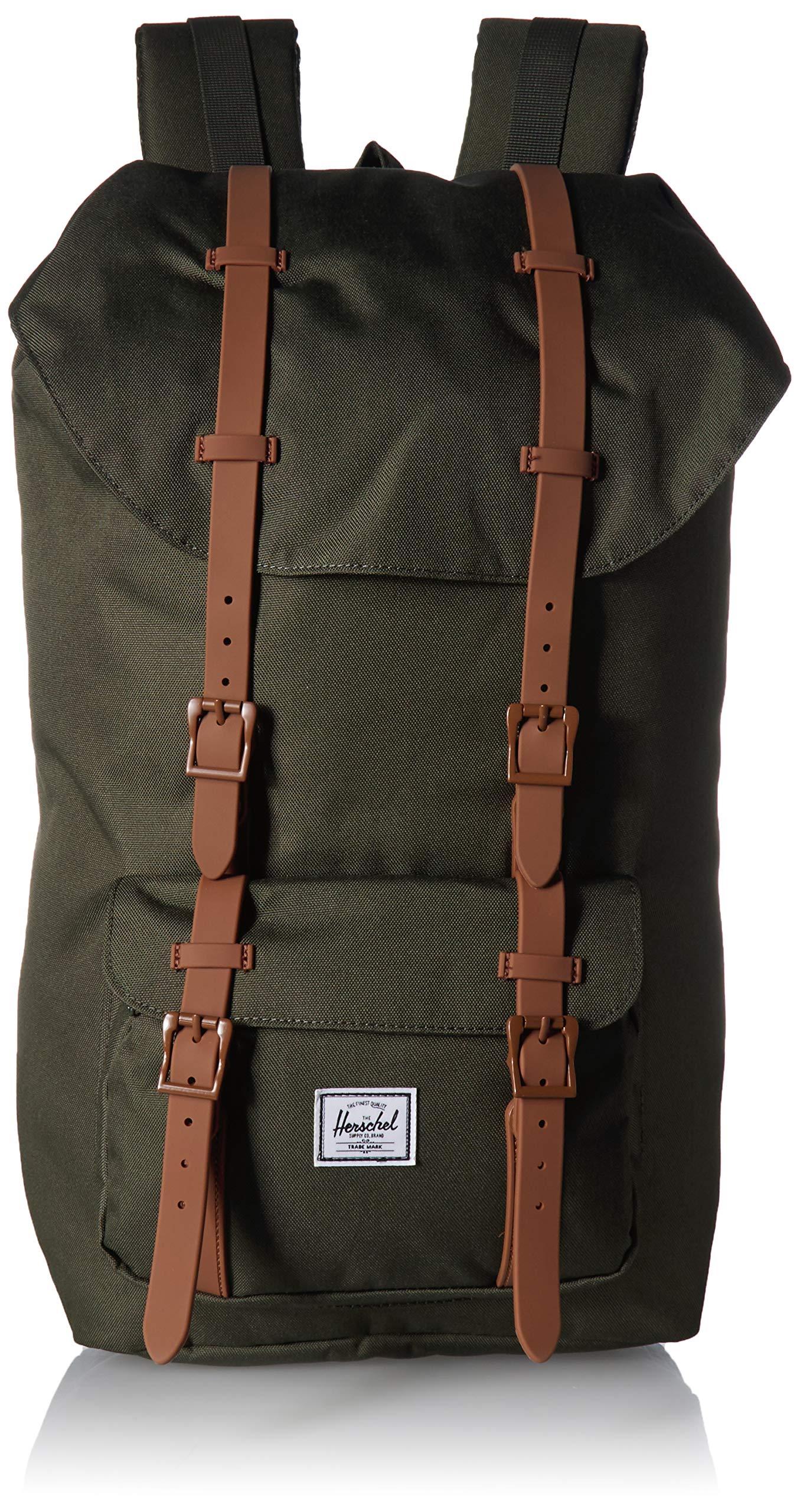Herschel Little America Backpack, Dark Olive/Saddle