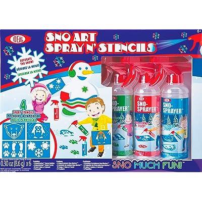 Ideal Sno Toys Sno Art Spray N' Stencil: Toys & Games