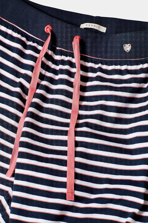 ESPRIT Pyjama-Hose im Streifen-Look 100/% Baumwolle
