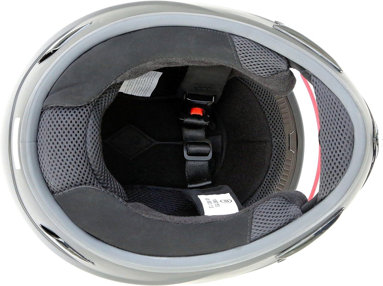 colore: nero opaco S M L XL Casco integrale da motociclista ATO Moto Dark bianco