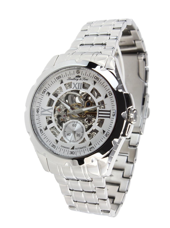 Lindberg&Sons Reloj para Hombre de con Correa en Acero Inoxidable SK14H027