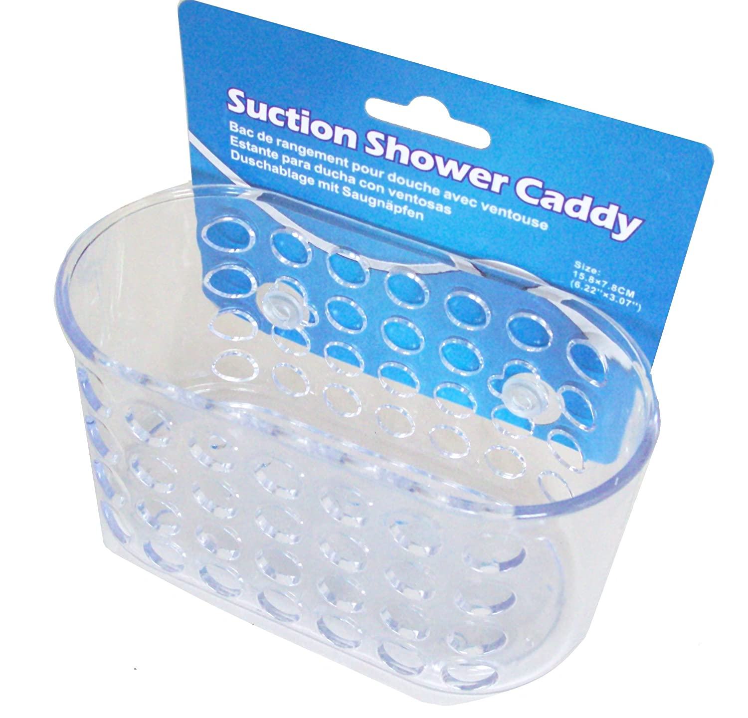 Amazon.com: Clear Plastic Soap Holder Bathroom Shower Suction Caddy ...