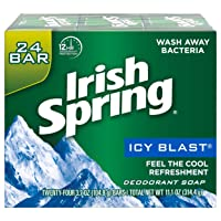 Deals on Irish Spring Men's Deodorant Soap Bar Icy Blast 24 Count
