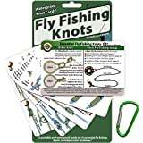 ReferenceReady Fly Fishing Knot Cards - Waterproof Guide to 14 Essential Fly Fishing Knots - Includes Mini Carabiner
