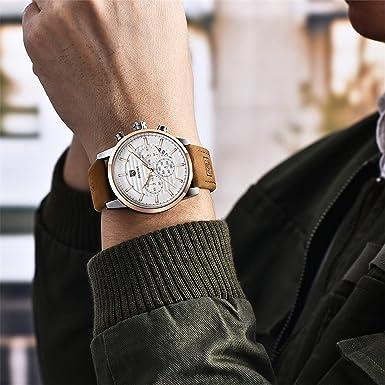BENYAR Brand Casual Men Watch Fashion Sport Analog Quartz Waterproof Leather Mens Wristwatch-GW