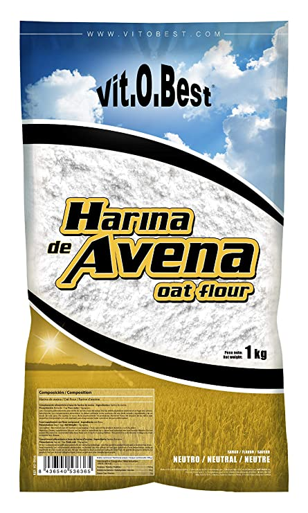 Harina de Avena Sabores Variados - Suplementos Alimentación y Suplementos Deportivos - Vitobest (Neutra, 1 Kg)