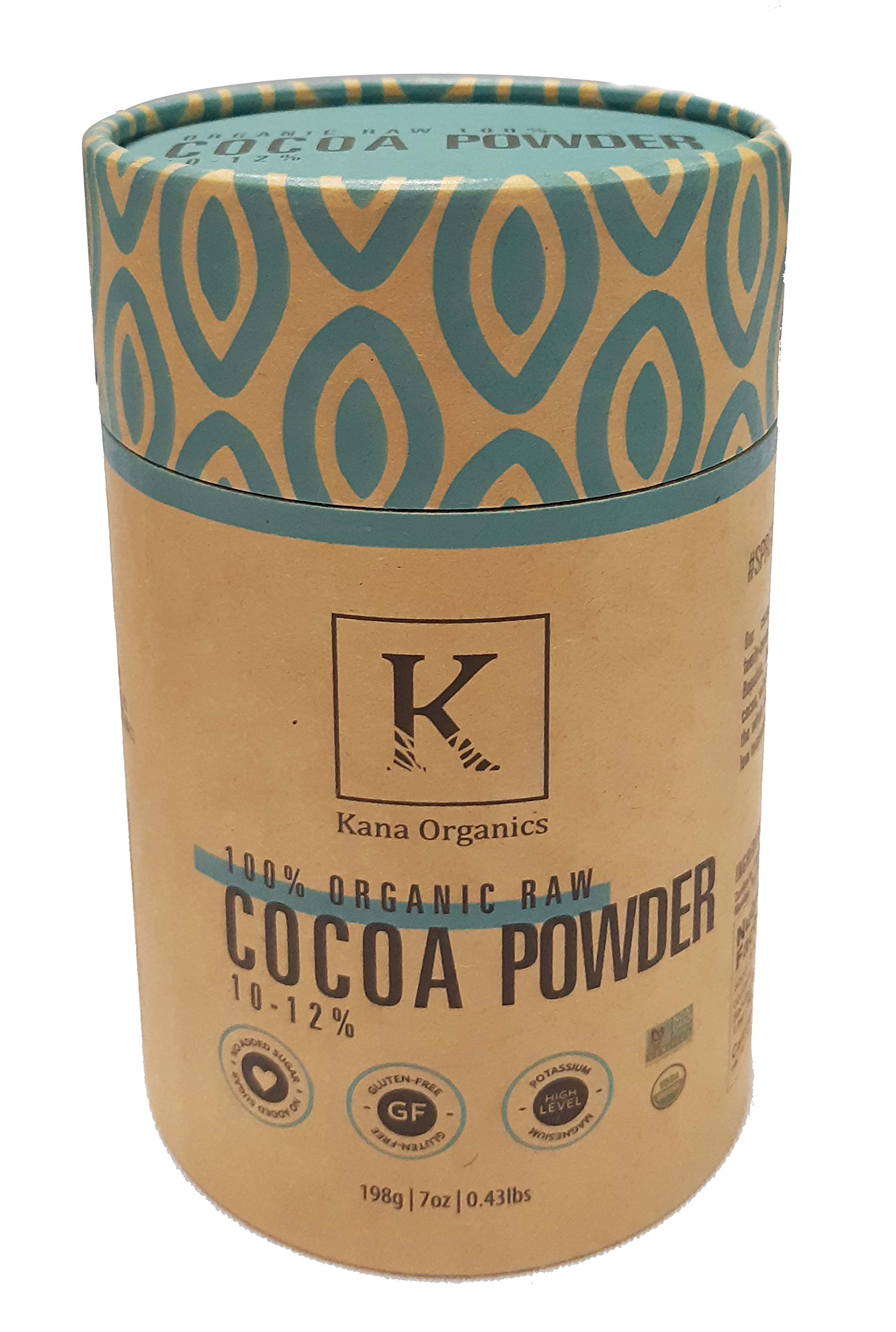 Healthy Organic Cocoa Powder - Gluten free/Vegan friendly by Kana Organics