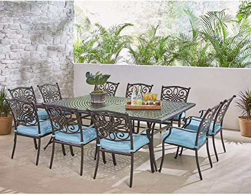 Hanover TRADDN11PC-BLU Traditions 11 Piece Dining Set