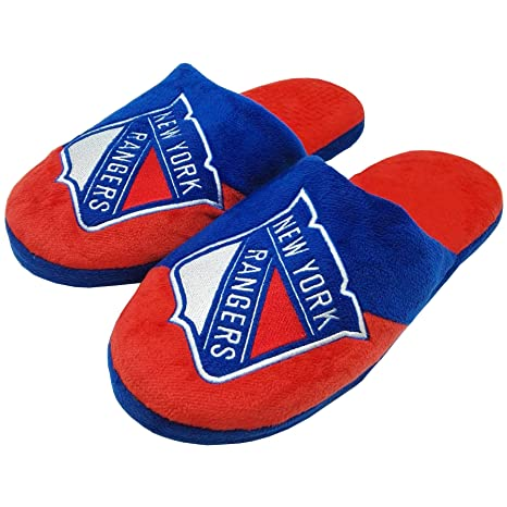 46867a4aba3 Forever Collectibles New York Rangers NHL Men s Big Logo Slipper 2.0 - Large