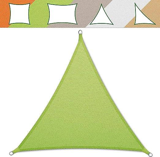 impermeabile e resistente al vento con corde Tendone triangolare colore beige 3x3x3 m
