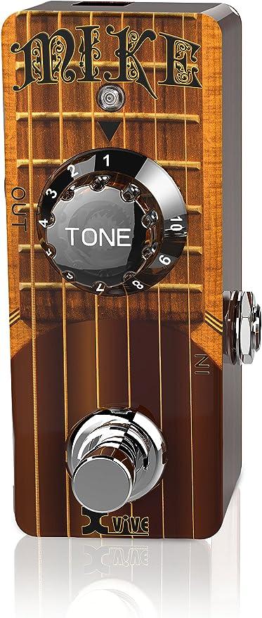 Xvive® Simulador de Guitarra Acústica pedal-mike EQ Guitarra ...